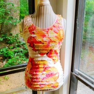 🌺floral watercolor tiered stretch tank small